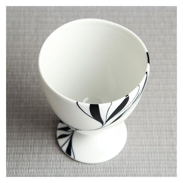 砥部焼 おしゃれ 【ワインカップ】 カクテルグラス フリーカップ モダン 白黒 窯元 和将窯 Washo-107|wapal|04