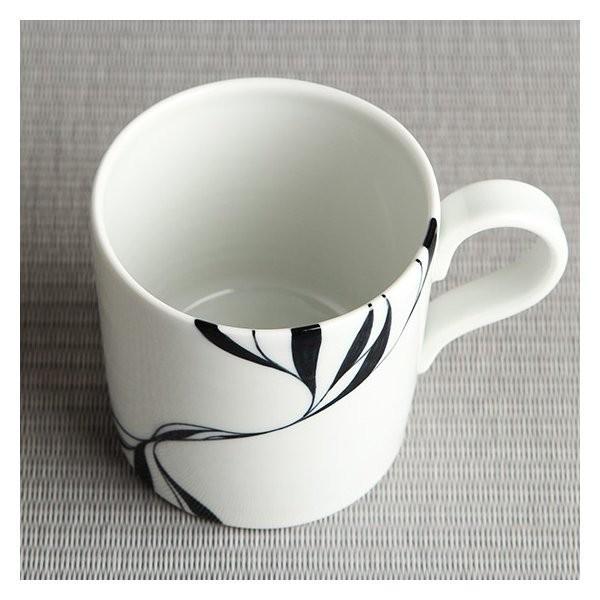 砥部焼 おしゃれ 【マグカップ】 コーヒーカップ モダン 白黒 窯元 和将窯 Washo-108|wapal|04