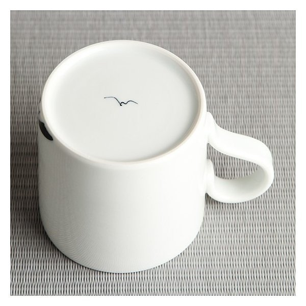 砥部焼 おしゃれ 【マグカップ】 コーヒーカップ モダン 白黒 窯元 和将窯 Washo-108|wapal|05