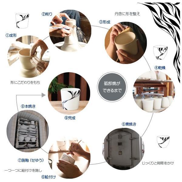 砥部焼 おしゃれ 【マグカップ】 コーヒーカップ モダン 白黒 窯元 和将窯 Washo-108|wapal|07