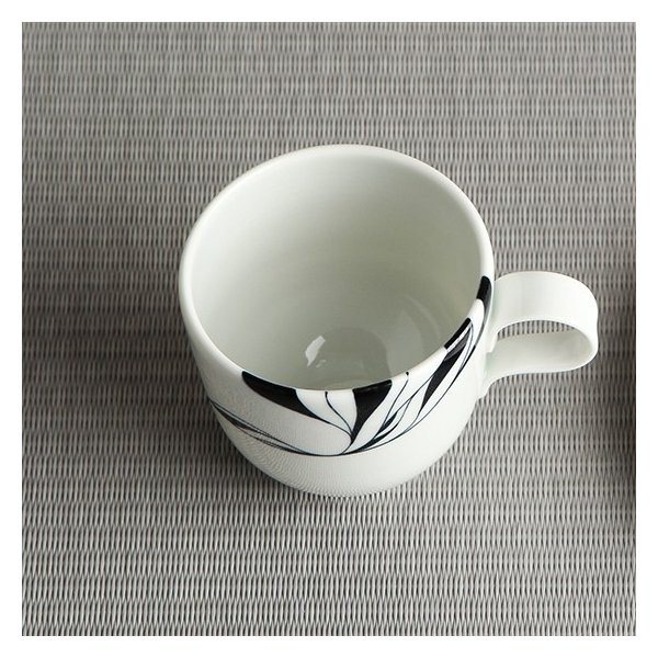 砥部焼 おしゃれ 【コーヒーカップ】 ティーカップ モダン 白黒 窯元 和将窯 Washo-109|wapal|04