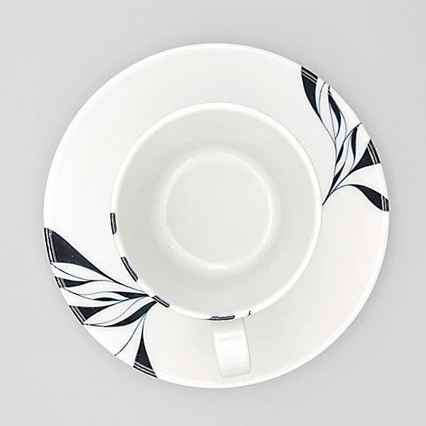 砥部焼 おしゃれ 【コーヒーカップ スリム】 ティーカップ モダン 白黒 窯元 和将窯 Washo-110|wapal|04