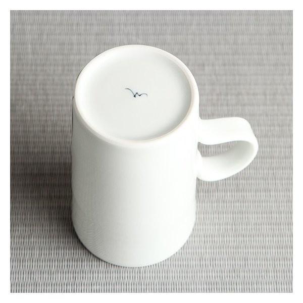 砥部焼 おしゃれ 【マグカップ スリム】 コーヒーカップ モダン 白黒 窯元 和将窯 Washo-111|wapal|05