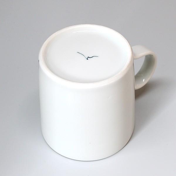 砥部焼 おしゃれ 【マグカップ ハート】 コーヒーカップ モダン 白黒 窯元 和将窯 Washo-108|wapal|05
