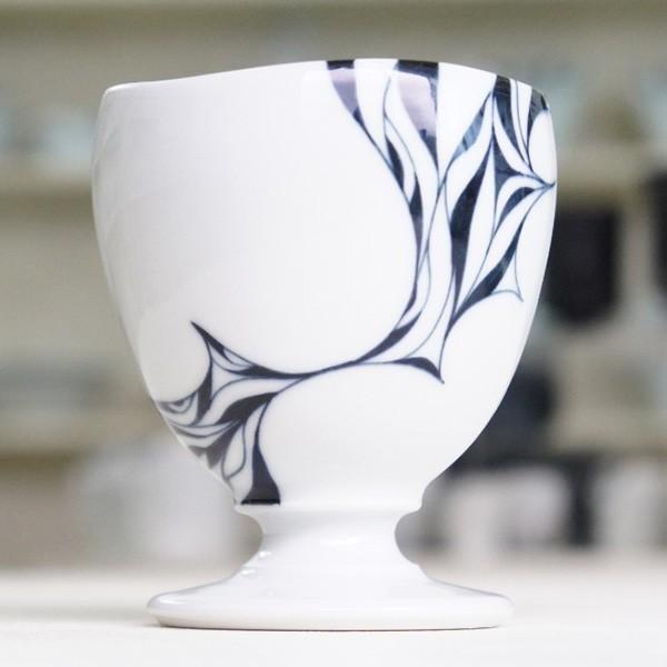 砥部焼 おしゃれ 【ワインカップ】 カクテルグラス フリーカップ モダン 白黒 窯元 和将窯 Washo-119|wapal|04
