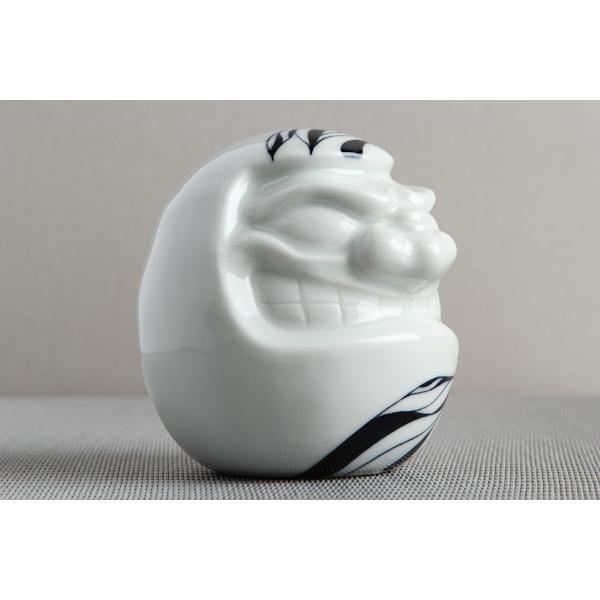 【ダルマ】 砥部焼 おしゃれ 小物 置物 縁起物 窯元 和将窯 Washo-304 wapal 06