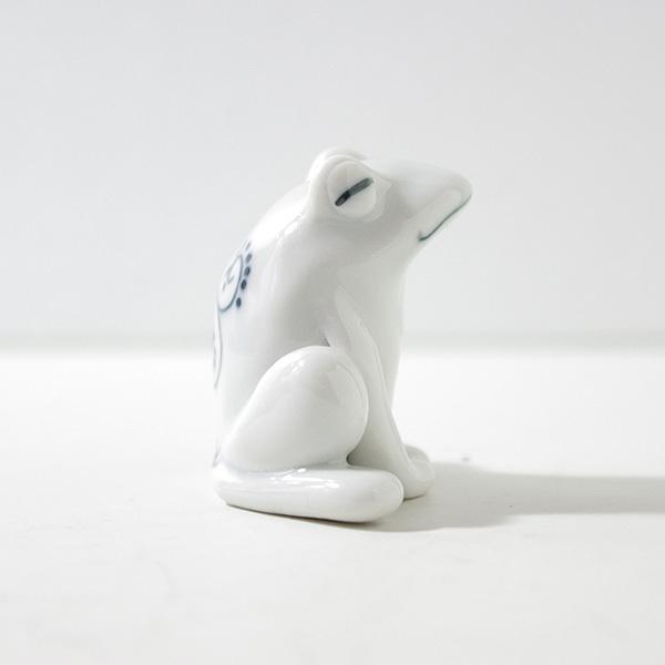 【カエルの置物】 砥部焼 おしゃれ 縁起物 蛙 フロッグ 窯元 和将窯 Washo-308 wapal 05