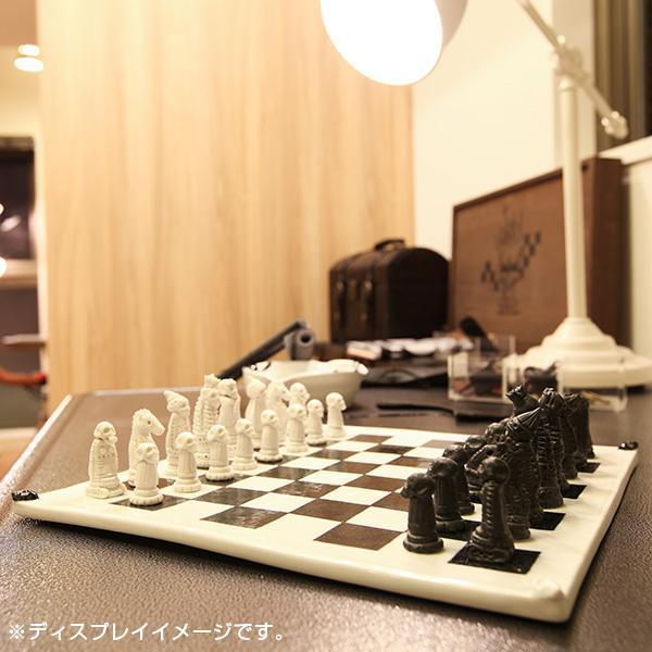 チェス ドクロ スカル Washo 902 砥部焼 おしゃれ 窯元 和将窯 モダン 白黒 陶板 wapal 07