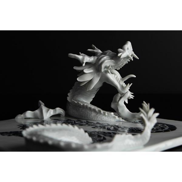 砥部焼 おしゃれ 【ドラゴンプレート】 置物 窯元 和将窯 ブランコネグロ Washo-910|wapal|05