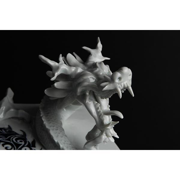 砥部焼 おしゃれ 【ドラゴンプレート】 置物 窯元 和将窯 ブランコネグロ Washo-910|wapal|06