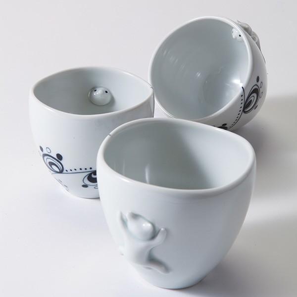 猫のカップ 砥部焼 おしゃれ 【猫のかくれんぼ】 フリーカップ 受賞作品 窯元 和将窯 Washo-w4|wapal|08