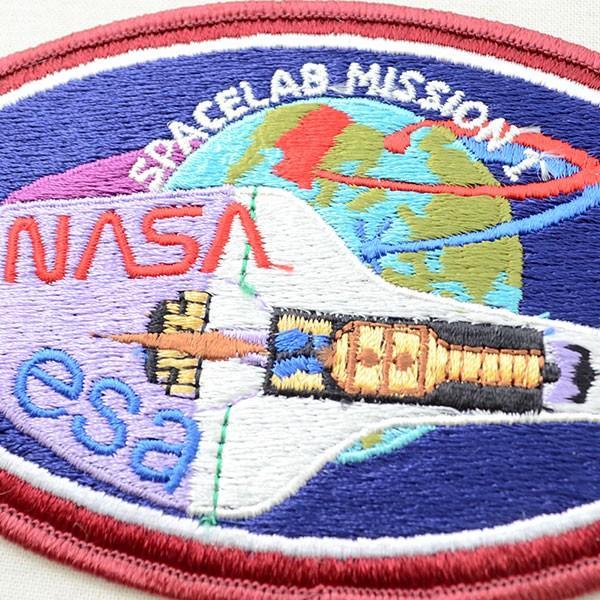 宇宙ワッペン ナサ NASA&esa(スペースシャトル/糊なし) 名前 作り方 AS103 wappenstore 02