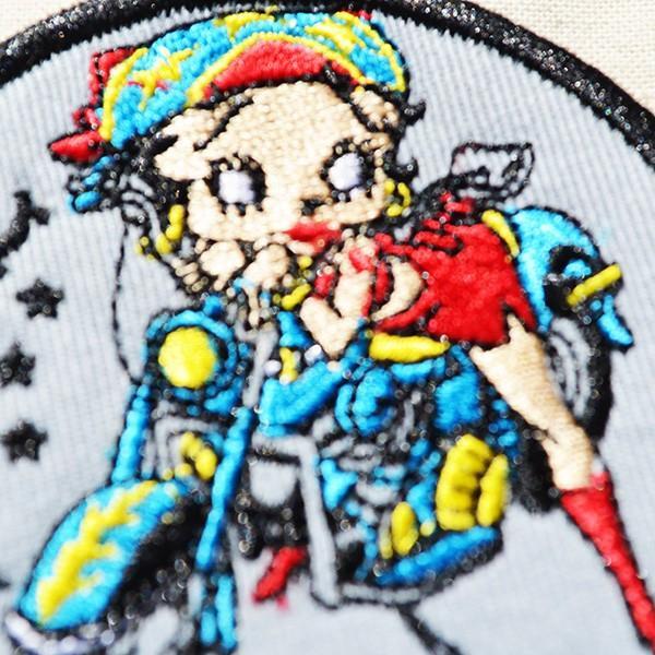 ワッペン ベティブープ Betty Boop(バイク) 名前 作り方 BBW-012|wappenstore|02