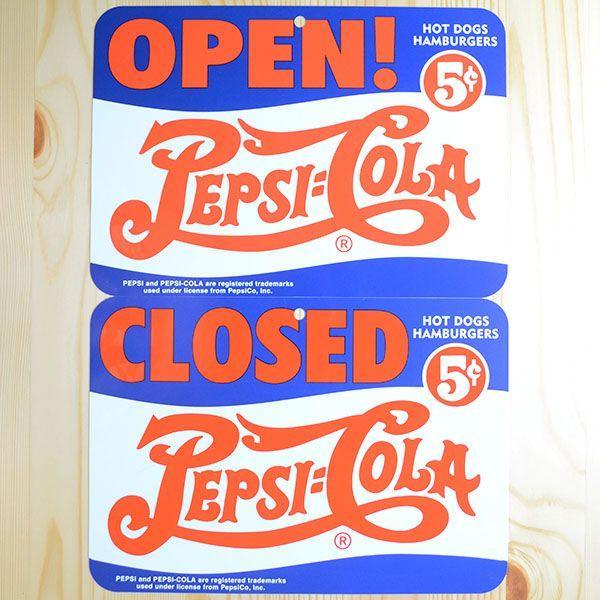 看板/プラサインボード ペプシコーラ Pepsi-Cola オープン/クローズド(ヨコ/両面プリント) CCA-008B wappenstore