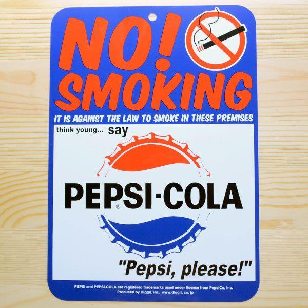 看板/プラサインボード ペプシコーラ Pepsi-Cola ノースモーキング(禁煙) CCA-010A wappenstore