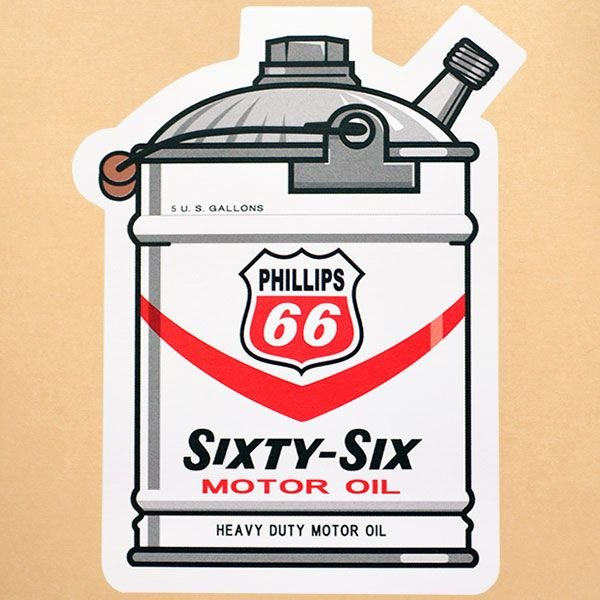 ガレージステッカー/シール フィリップス66 Phillips66(ガロン缶) GS-031|wappenstore
