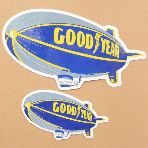 ロゴステッカー/シール グッドイヤー Goodyear(飛行船/L)|wappenstore|02