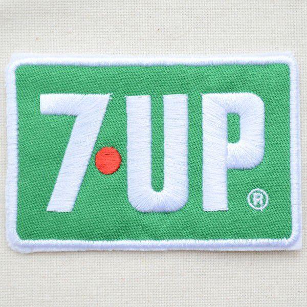 ワッペン 7up セブンアップ(ロゴ/グリーン/レクタングル) HCH-002B|wappenstore