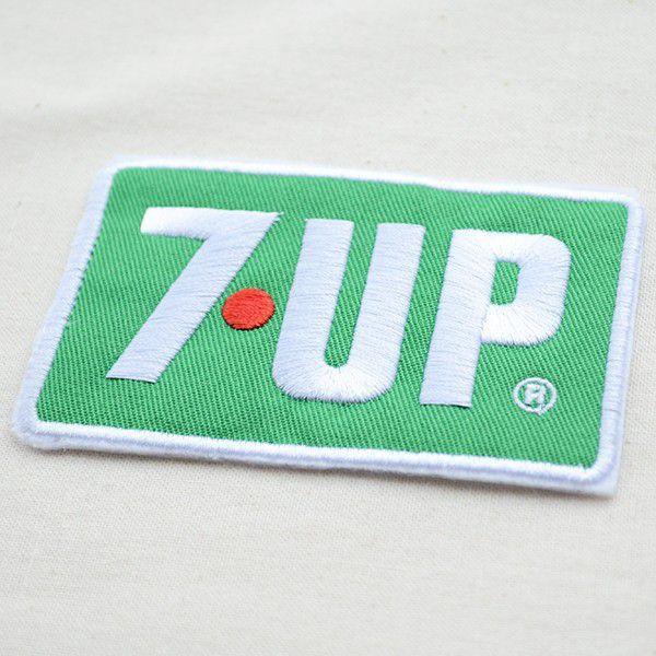 ワッペン 7up セブンアップ(ロゴ/グリーン/レクタングル) HCH-002B|wappenstore|02