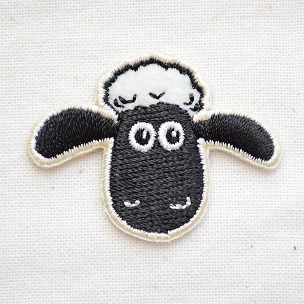 シールワッペン ひつじのショーン/Shaum the Sheep 名前 作り方 HS301-HS03