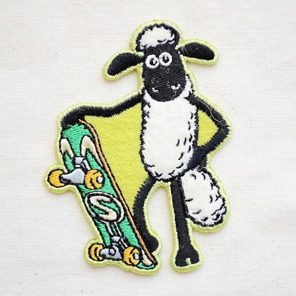 ワッペン ひつじのショーン/Shaum the Sheep (スケートボード) 名前 作り方 HS500-HS05