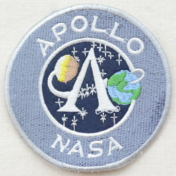 ロゴワッペン アポロナサ APOLLO NASA(Mサイズ) 名前 作り方 LGW-016 wappenstore