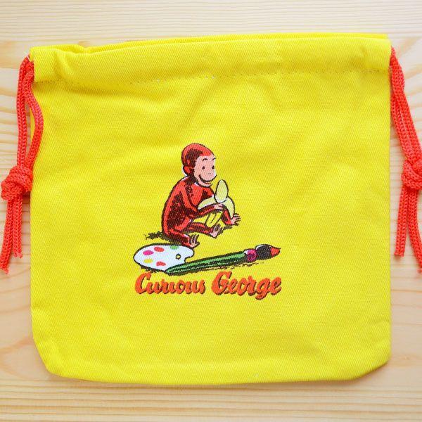 アメリカンキャラ巾着袋(S) おさるのジョージ Curious George LJK-S030 wappenstore 02