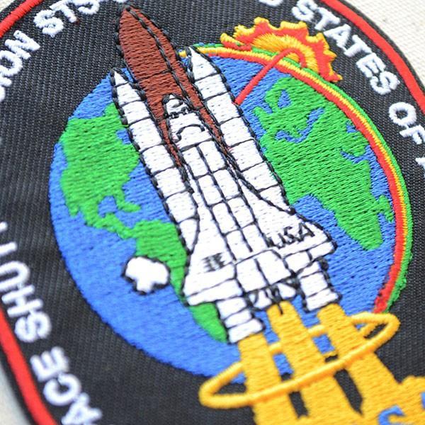 ロゴワッペン NASA ナサ(STS-066) 名前 作り方 NFC-001-066 wappenstore 02