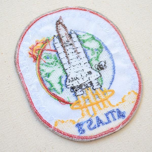ロゴワッペン NASA ナサ(STS-066) 名前 作り方 NFC-001-066 wappenstore 03