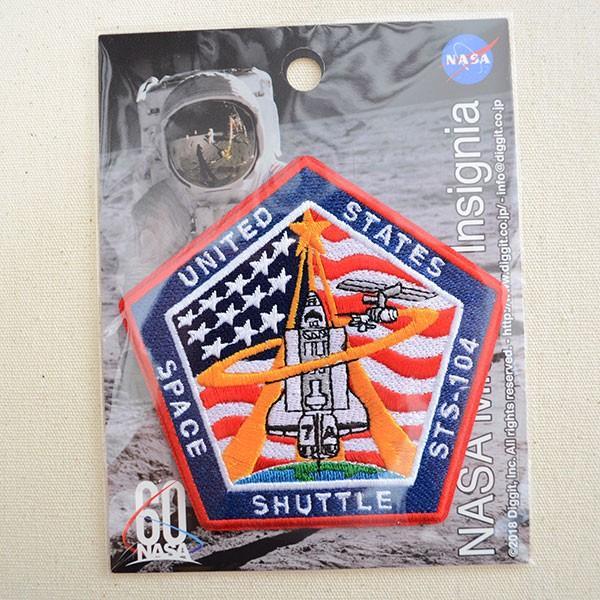 ロゴワッペン NASA ナサ(STS-104) 名前 作り方 NFC-001-104|wappenstore|04