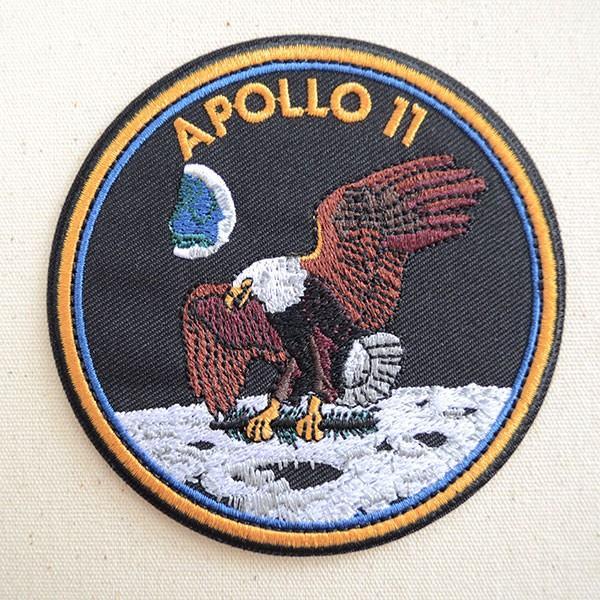 ロゴワッペン NASA ナサ(アポロ11) 名前 作り方 NFC-001-A11|wappenstore
