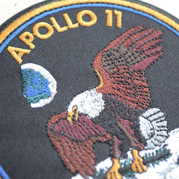 ロゴワッペン NASA ナサ(アポロ11) 名前 作り方 NFC-001-A11|wappenstore|02