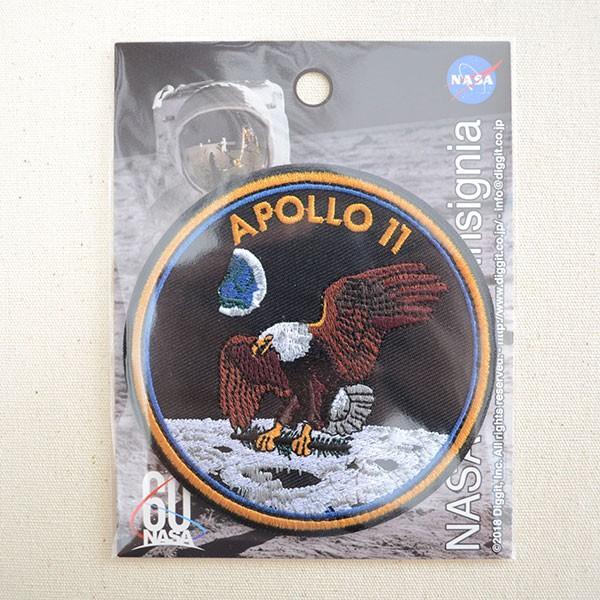 ロゴワッペン NASA ナサ(アポロ11) 名前 作り方 NFC-001-A11|wappenstore|04