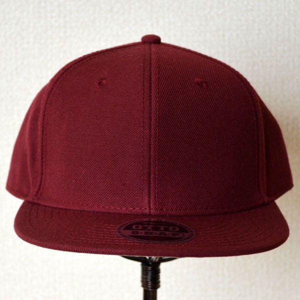 帽子/キャップ オットー Otto フラットバイザー ウールブレンド(バーガンディ) H0978 *メール便不可|wappenstore|02
