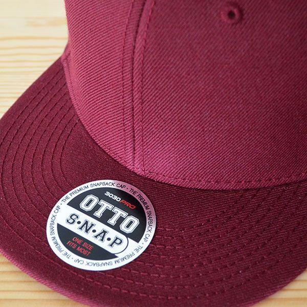 帽子/キャップ オットー Otto フラットバイザー ウールブレンド(バーガンディ) H0978 *メール便不可|wappenstore|05