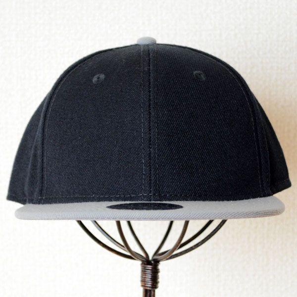 帽子/キャップ オットー Otto フラットバイザー ウールブレンド(グレー×ブラック) H0978 *メール便不可|wappenstore|02