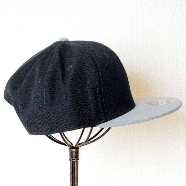 帽子/キャップ オットー Otto フラットバイザー ウールブレンド(グレー×ブラック) H0978 *メール便不可|wappenstore|03