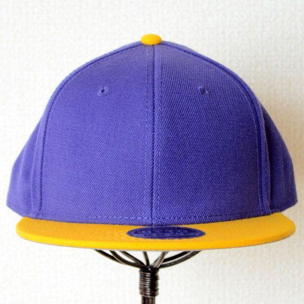 帽子/キャップ オットー Otto フラットバイザー ウールブレンド(イエローゴールド×パープル) H0978 *メール便不可|wappenstore|02