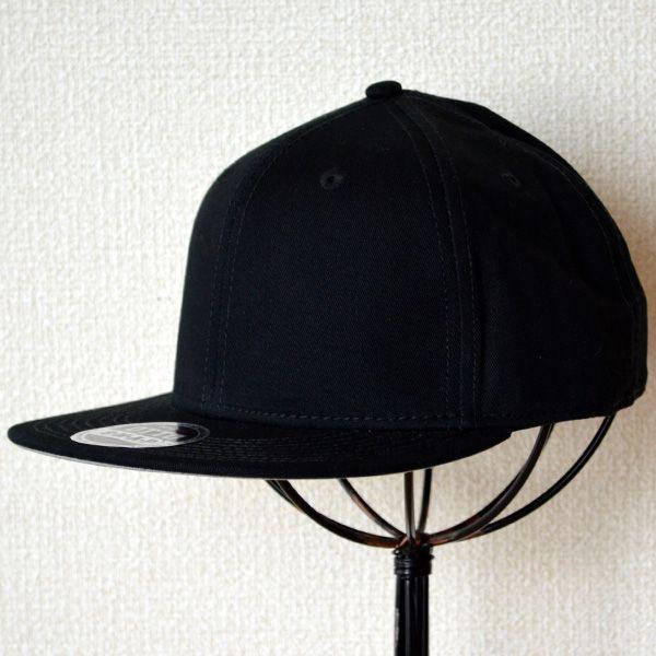 帽子/キャップ オットー Otto フラットバイザー コットンツイル(ブラック) H1038 *メール便不可 wappenstore