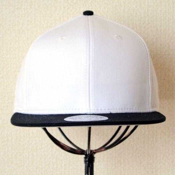 帽子/キャップ オットー Otto フラットバイザー コットンツイル(ブラック×ホワイト) H1038 *メール便不可|wappenstore|02