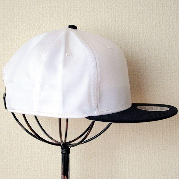 帽子/キャップ オットー Otto フラットバイザー コットンツイル(ブラック×ホワイト) H1038 *メール便不可|wappenstore|03