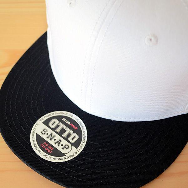 帽子/キャップ オットー Otto フラットバイザー コットンツイル(ブラック×ホワイト) H1038 *メール便不可|wappenstore|05