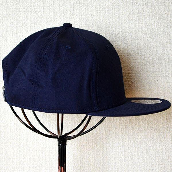 帽子/キャップ オットー Otto フラットバイザー コットンツイル(ネイビー) H1038 *メール便不可|wappenstore|03