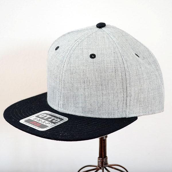 帽子/キャップ オットー Otto フラットバイザー ヘザーウールブレンド(ブラック×ヘザーグレー) H1054 *メール便不可 wappenstore
