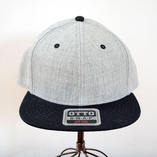 帽子/キャップ オットー Otto フラットバイザー ヘザーウールブレンド(ブラック×ヘザーグレー) H1054 *メール便不可 wappenstore 02
