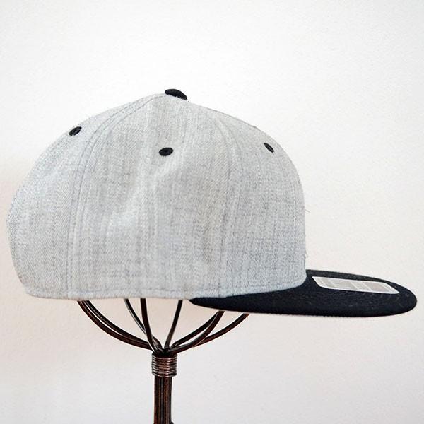 帽子/キャップ オットー Otto フラットバイザー ヘザーウールブレンド(ブラック×ヘザーグレー) H1054 *メール便不可 wappenstore 03