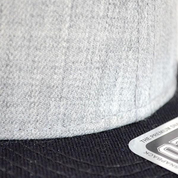 帽子/キャップ オットー Otto フラットバイザー ヘザーウールブレンド(ブラック×ヘザーグレー) H1054 *メール便不可 wappenstore 04