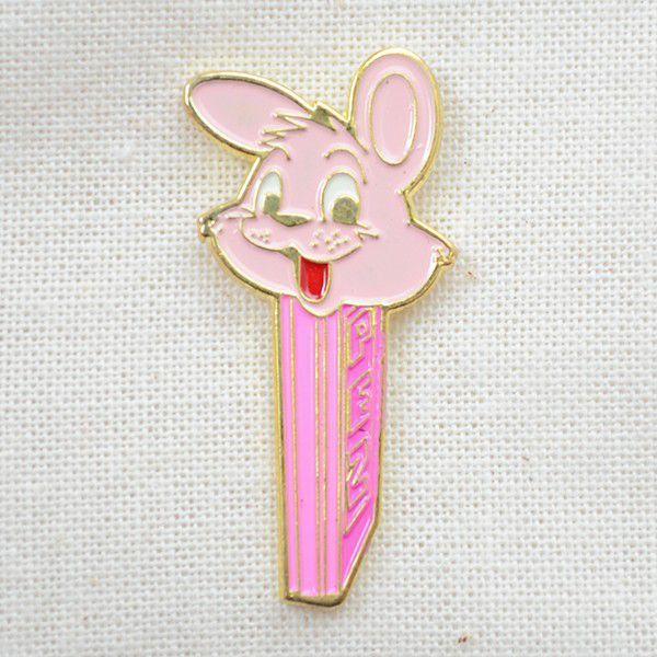 ピンバッジ PEZ ペッツ ラビットディスペンサー(ピンク) #16 wappenstore