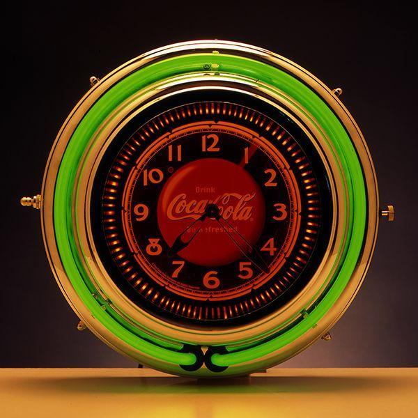 コカコーラ Coca-Cola 壁掛け時計/モーションクロック(グリーンネオン) PJC-750SB *送料無料 *代引不可 wappenstore
