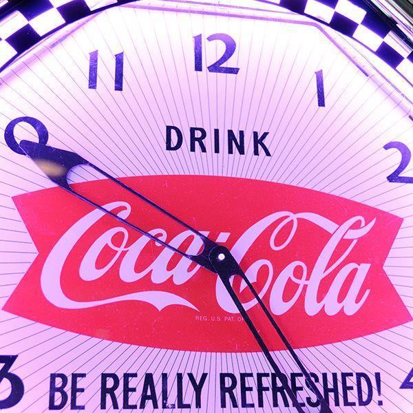 コカコーラ Coca-Cola 壁掛け時計/レトロネオンクロック PJC-R02 *送料無料 *代引不可 wappenstore 02
